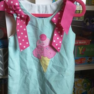 Kelly's Kids gingham, ice cream dress sz 2t